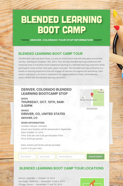 Blended Learning Boot Camp