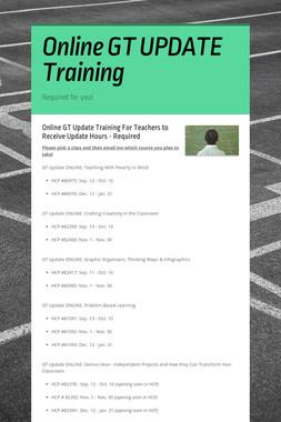 Online GT UPDATE Training