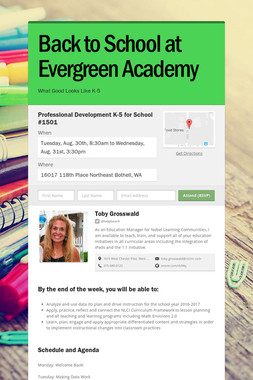 Back to School at Evergreen Academy
