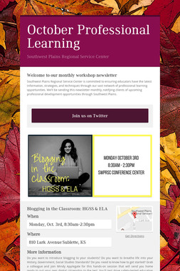 October Professional Learning
