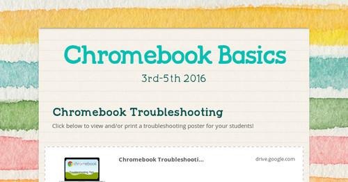 Chromebook Basics | Smore Newsletters for Education