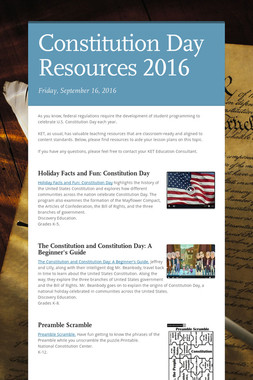 Constitution Day Resources 2016
