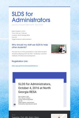 SLDS for Administrators