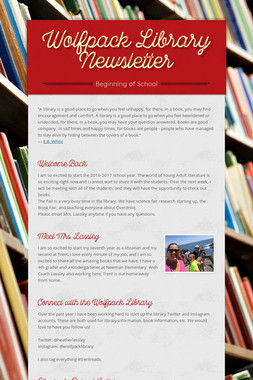 Wolfpack Library Newsletter