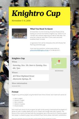 Knightro Cup