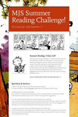MJS Summer Reading Challenge!