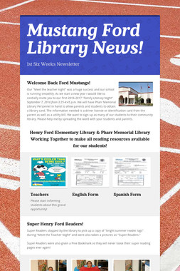 Mustang Ford Library News!