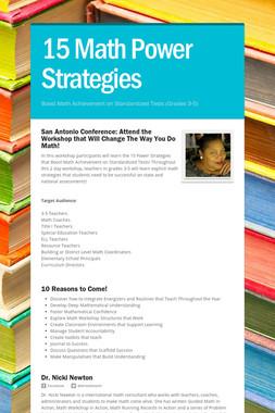 15 Math Power Strategies