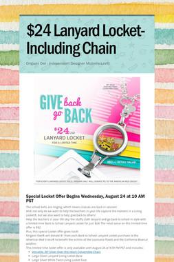 $24 Lanyard Locket-Including Chain