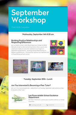 September Workshop