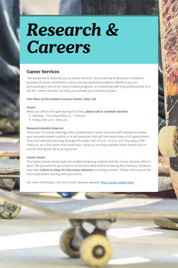 Research & Careers