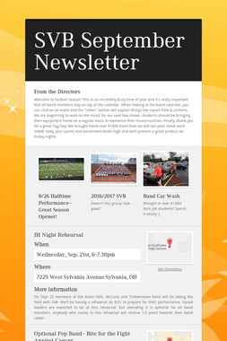SVB September Newsletter