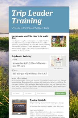 Trip Leader Training