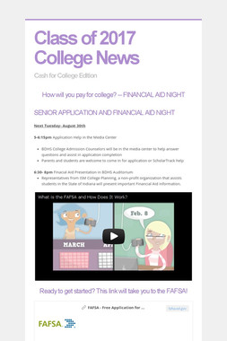 Class of 2017 College News