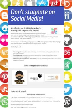 Don't stagnate on Social Media!