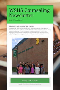 WSHS Counseling Newsletter