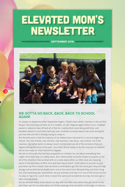 Elevated Mom's Newsletter