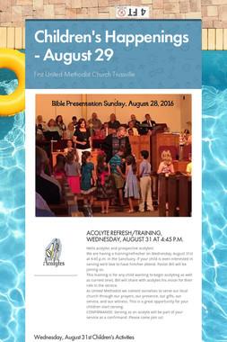 Children's Happenings - August 29