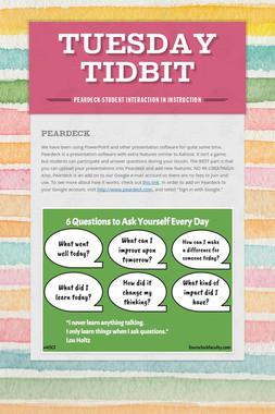Tuesday Tidbit