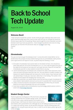 Back to School Tech Update