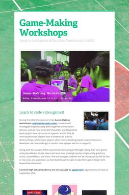 Game-Making Workshops