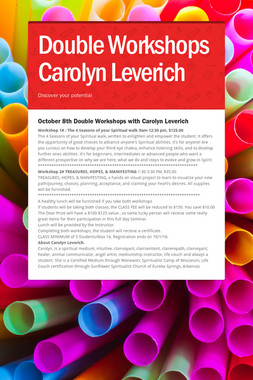 Double Workshops Carolyn Leverich