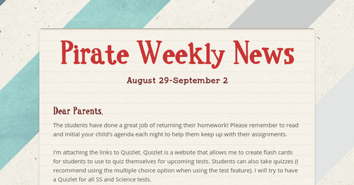 Pirate Weekly News | Smore Newsletters for Education