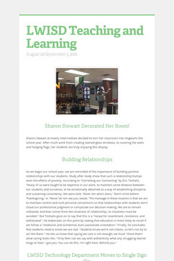 LWISD Teaching and Learning