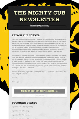 The Mighty Cub Newsletter
