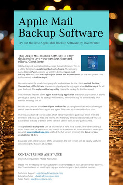 Apple Mail Backup Software