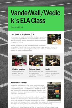 VanderWall/Wedick's ELA Class