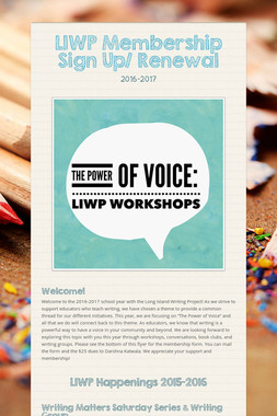 LIWP Membership Sign Up/ Renewal