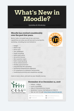 What's New in Moodle?