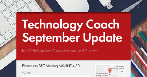 Technology Coach September Update Smore Newsletters