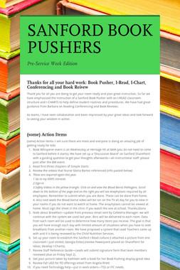 SANFORD BOOK PUSHERS