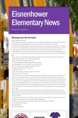 Eisnenhower Elementary News