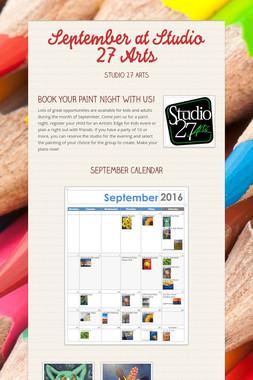 September at Studio 27 Arts