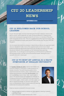 CIU 20 Leadership News
