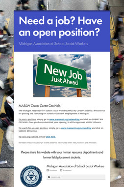 Need a job? Have an open position?