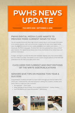 PWHS News Update