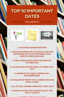 Top 10 Important Dates