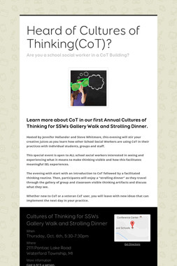 Heard of Cultures of Thinking(CoT)?