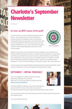Charlotte's September Newsletter