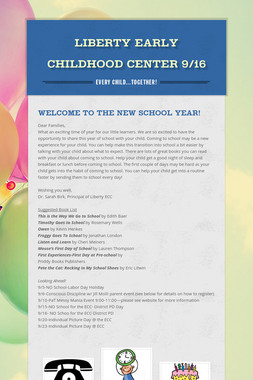 Liberty Early Childhood Center 9/16
