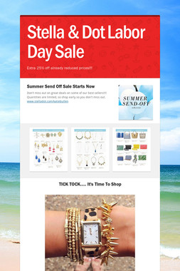 Stella & Dot Labor Day Sale