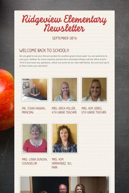 Ridgeview Elementary Newsletter