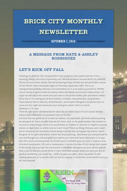 Brick City Monthly Newsletter