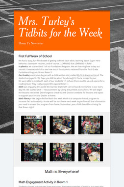 Mrs. Turley's Tidbits for the Week