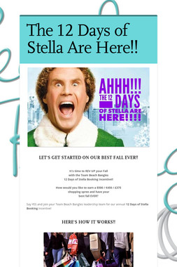 The 12 Days of Stella Are Here!!