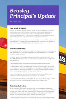 Beasley Principal's Update